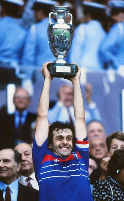 Michel Platini (France) captained France to success in the 1984 UEFA Euro Championship on home soil. His individual impact on the tournament was huge with 9 of France's 14 goals in just 5 games (the top goalscorer in Euro '84).
