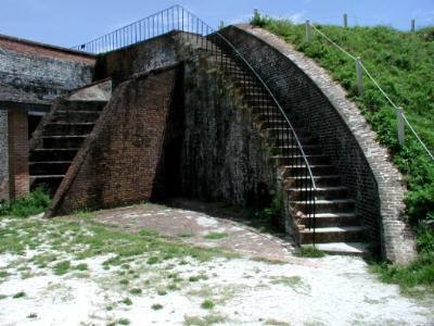 Fort Pickens curved staircase - Santa Rosa Island, Florida, USA