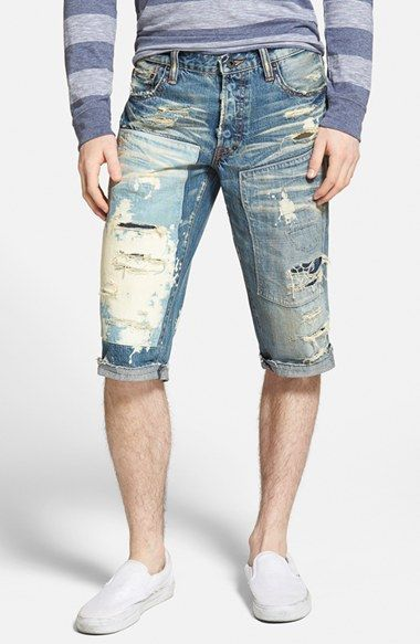 PRPS 'Aster' Distressed Cutoff Denim Shorts (Vintage) available at #Nordstrom
