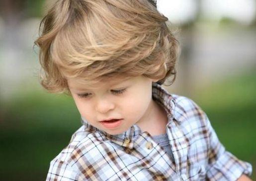 A Bit Curly Boy Hairstyle Toddler Boy Haircuts Little Boy