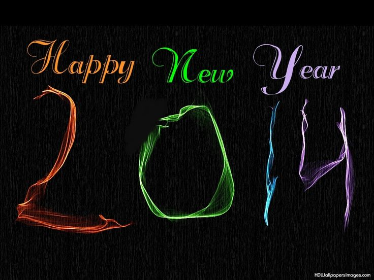 Happy New Year 2014 Colorful Image Picture HD Wallpapers Desktop PC