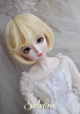 НОВЫЙ 1/3 1/4 1/6 BJD парик золото короткие волосы вьющиеся fringe кукла DIY Высокотемпературный Провод для BJD SD dollfieкупить в магазине wan mei jia fa wuнаAliExpress