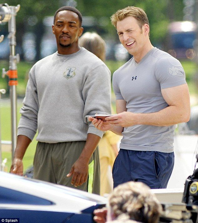 Filming Captain America Winter Soldier -  Chris Evans
