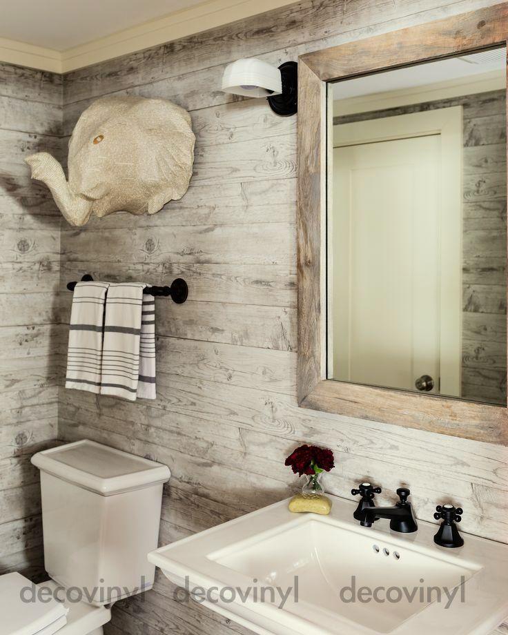 3d Beige Vintage Worn Wood Tiles Wallpaper Vinyl Film Pvc Sticky Back Plastic Uk Bathroom Decor Luxury Wood Wall Bathroom Retro Bathroom Decor