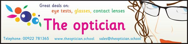 Optician Role Play Sign...Large optician sign, ideal for your school role-play scenarios.