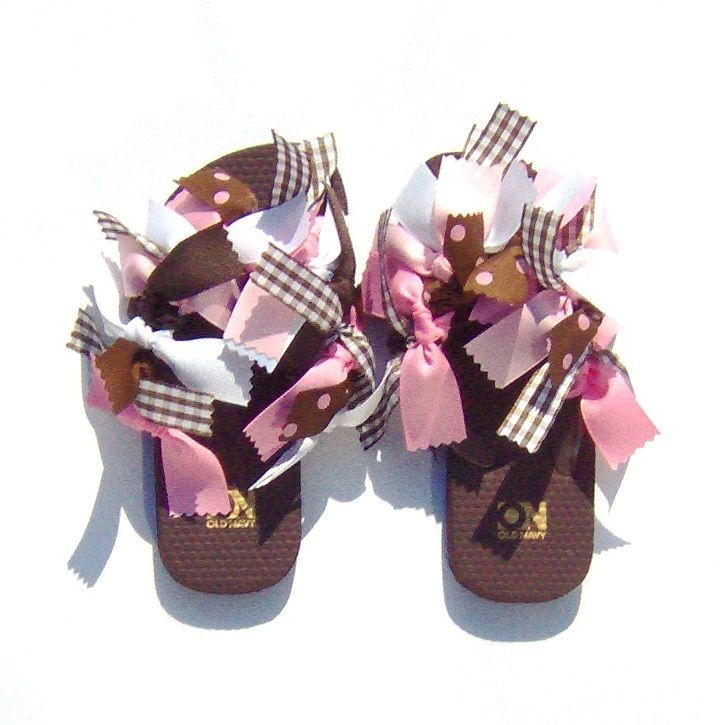 Black Flip Flops With Ribbons 23