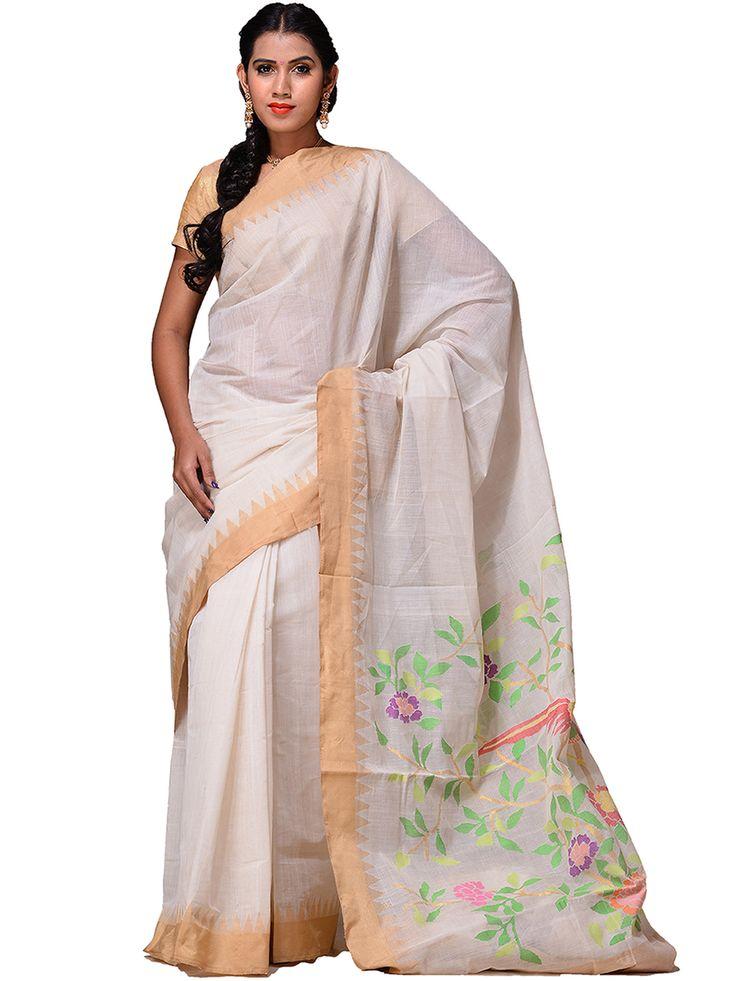 Handloom cotton Khadi Saree...kh0185a