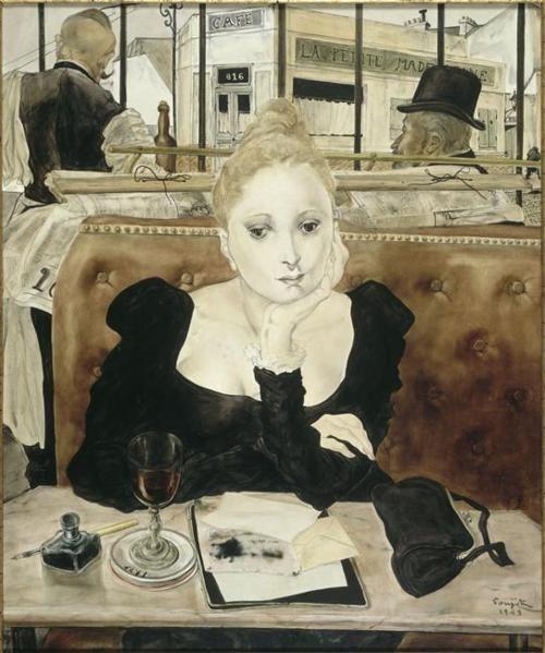 In The Cafe ; Tsuguhara Foujita: Le Café, Artists, Leonard Tsuguharu, Foujita 18861968, Cafes, Art Prints, Léonard Foujita, Cafe K-Cup, Tsuguharu Foujita