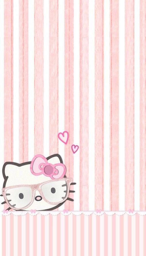 2534 best hello kitty sanrio images on pinterest iphone kitty pink strips wallpaper voltagebd Choice Image