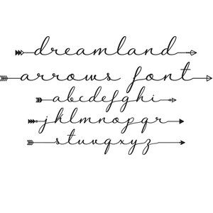 DREAMLAND ARROWS FONT can be purchased from the Silhouette Design Store. It comes with a bunch of font variations so you can completely customize your phrases!