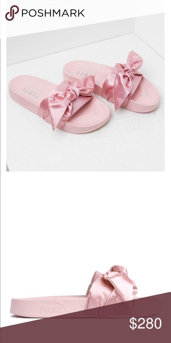 Rihanna puma bow slides Pink bow slides Puma Shoes Sandals
