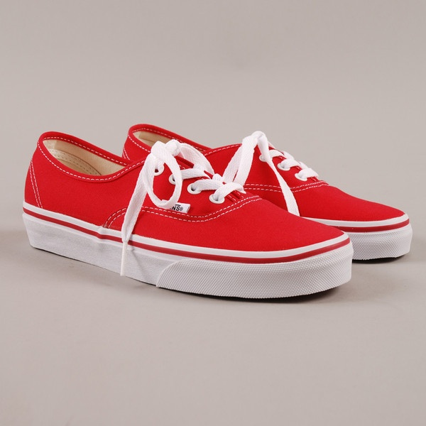 Vans Authentic - Red ($72) ❤ liked on Polyvore