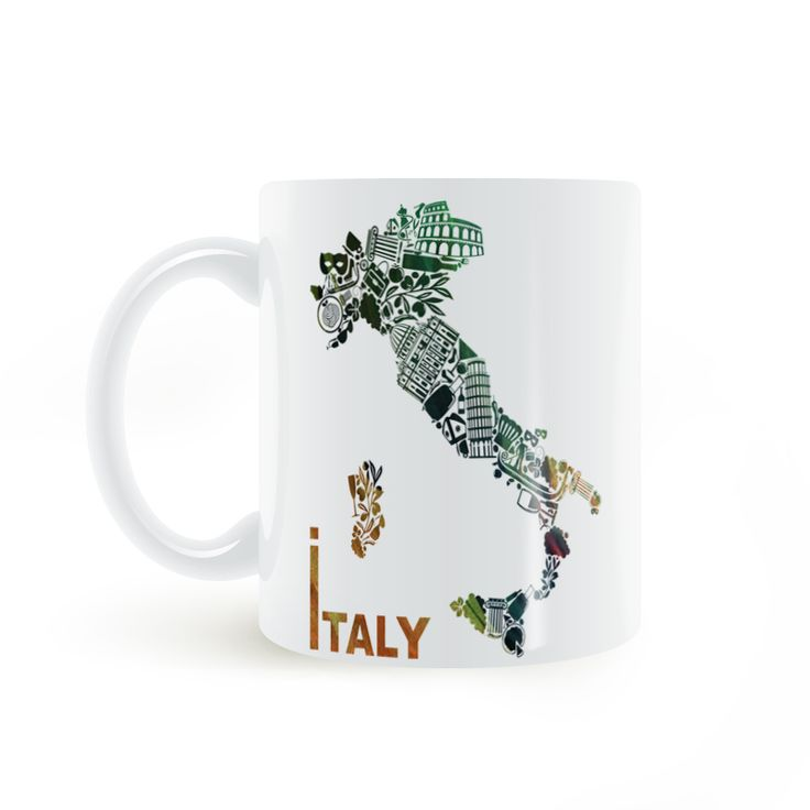 Find More Mugs Information about Italy Map World renowned Architecture Mug Coffee Milk Ceramic  Creative DIY Gifts Home Decor Mugs 11oz T130,High Quality decorative mugs,China mug coffee Suppliers, Cheap coffee mug from Double Seven Store on Aliexpress.com