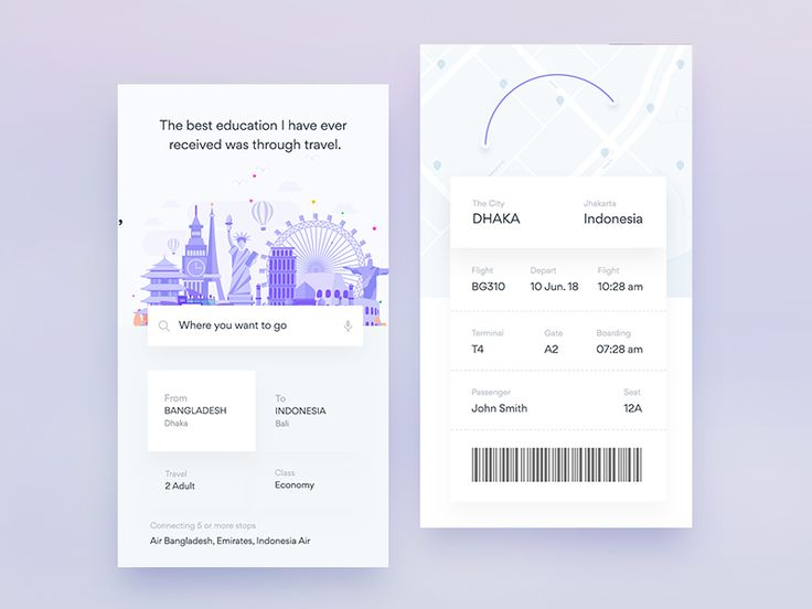 Ui Design Exploration For Flight iOS App by Masudur Rahman  - Dribbble