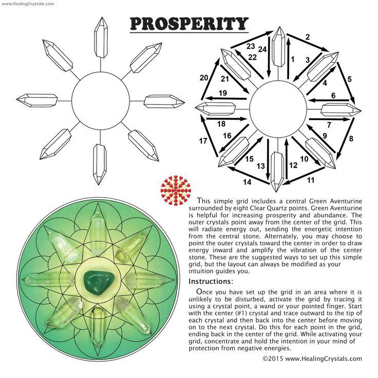 Grid Kit - Prosperity Grid Kit w/Green Aventurine (12pcs.)- Clear Quartz - Healing Crystals