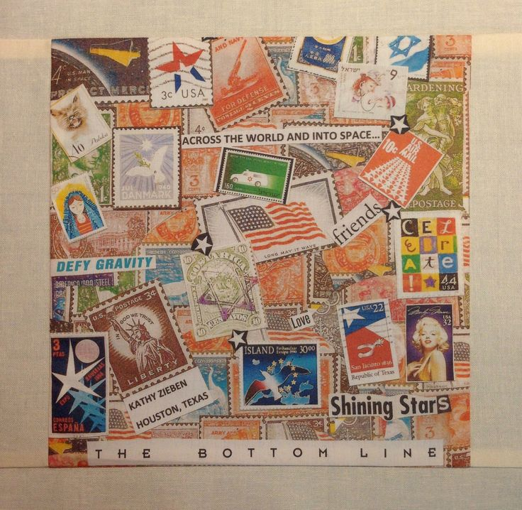 """""""Across The World And Into Space"""" quilt block by Kathy Zieben 2014"""