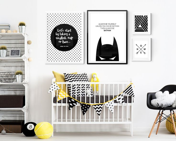 $12 --- Black and White Nursery Room Prints. High Quality Foam Board Posters. Worldwide Shipping.