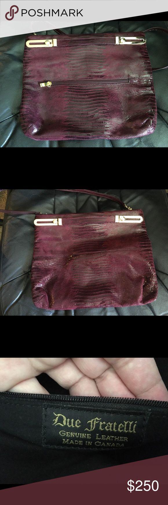 Selling this Due Fratelli genuine hand bag/clutch- wine on Poshmark! My username is: edp1983. #shopmycloset #poshmark #fashion #shopping #style #forsale #Due Fratelli #Handbags