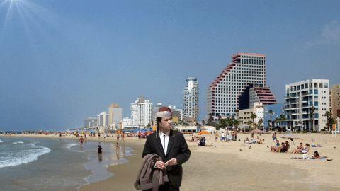 travolta syrus happy new year tel aviv beach