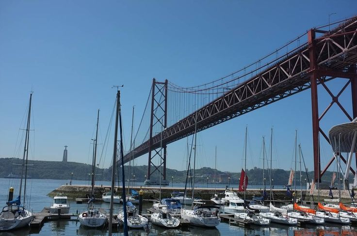 Ponte 25 de Abril in #Lisbon #Portugal. Going under the bridge while on a bike ride to the coastal beaches. We took a boat across the water and then continued on by bike.  #bikeride #bikinginlisbon #lisbonportugal #lisbonlovers #lisbonscenes #lisbonlover #europetravel #traveleurope #europe #europeanvacation #europetravels #travelblog #travelpics #travelphoto #traveling #euroscenes