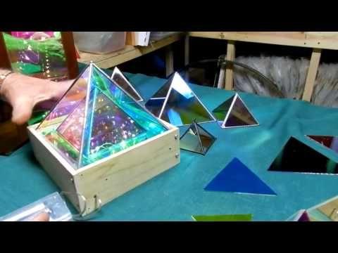 Dichroic Boro Glass Infinity Mirror Effect Pyramids 004 - YouTube