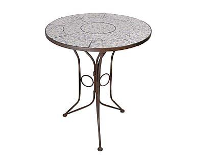 Tavolo in ferro battuto e ceramica Antiqua, d 60/h 70 cm