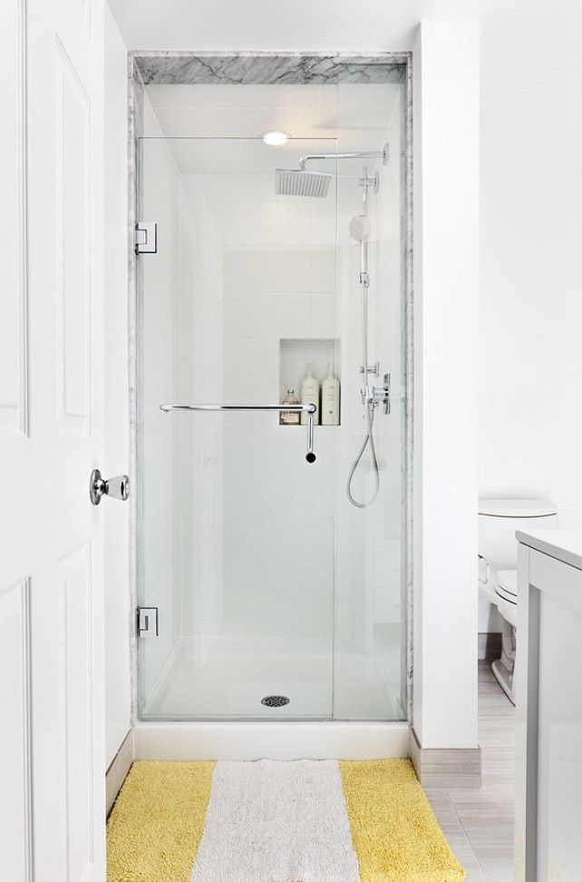 The 25 best ideas about small showers on pinterest for Cool shower door ideas