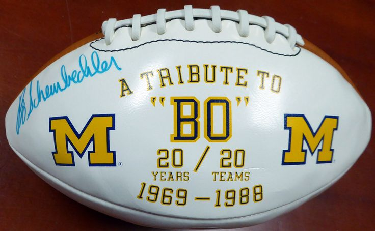 Bo Schembechler Autographed Michigan Wolverines Football PSA/DNA