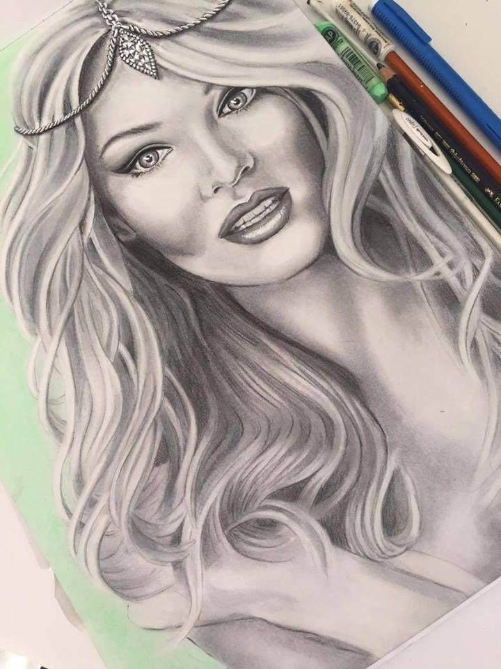 Jenifer Lee - Art Candice Swanepoel Pencil, Charcoal & Pastels