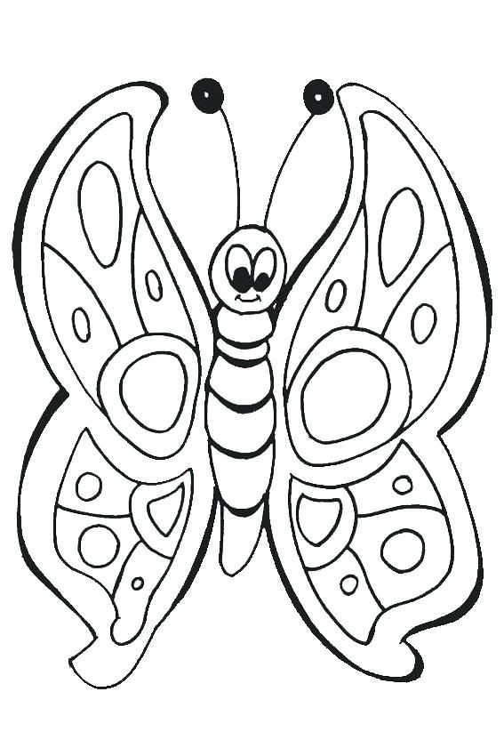 Butterfly Coloring Pages To Print Butterfly Coloring Page