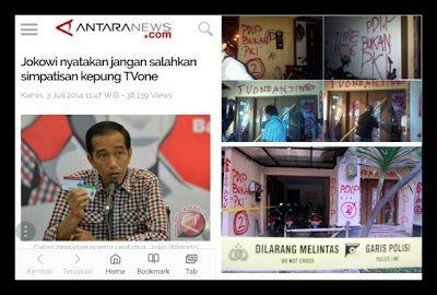 "Heboh PERSEKUSI Masih Ingat Jokowi Nyatakan Jangan Salahkan Simpatisan Kepung TVone ""Salah Sendiri Manas-manasin"""