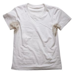 How to get Sweat Stains out of Clothes- My boyfriend asked me to try to get some sweat stains out of his shirt that are about 7 years old. I've done 2 washes with the oxyclean method and while they're not all the way out yet you can definitely see the difference. I think that with two more washes I might have them out.
