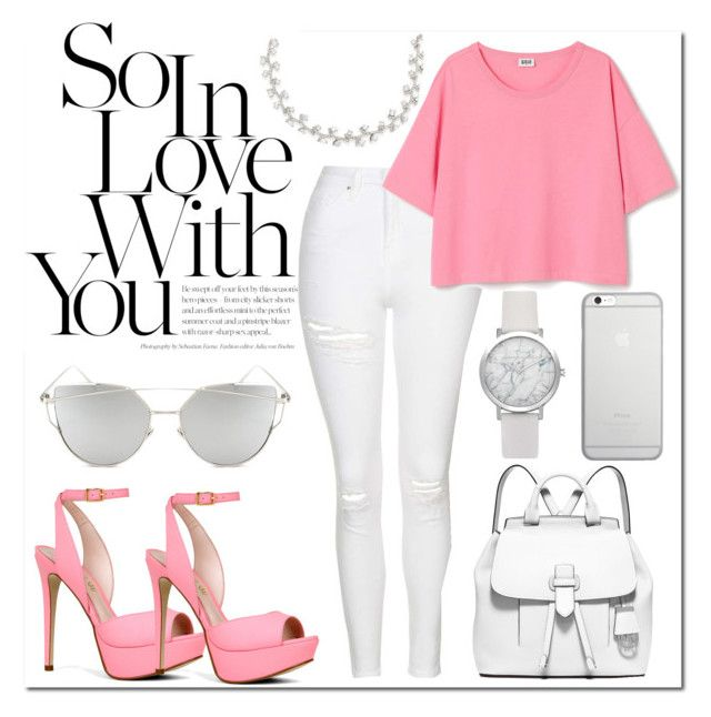 """""""So in love with you"""" by kayleedool on Polyvore featuring mode, Topshop, ALDO, Chicnova Fashion, MICHAEL Michael Kors, Native Union en Carolee"""