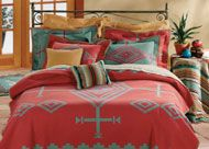 Aqua And Coral Bedding | lively collection from Pendleton Woolen Mills , coral and turquoise ...