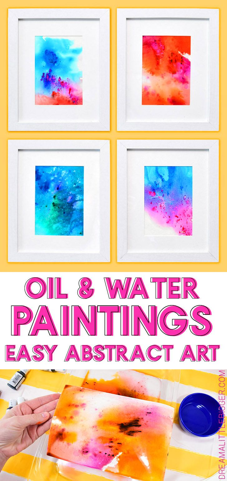 Vegetable Oil And Colored Water Abstract Art Crafts Home Decor