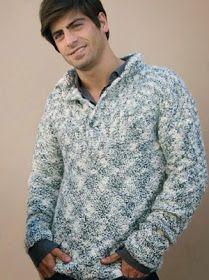 iKnitts: Patron para tejer Sweater de Hombre con cuello chomba