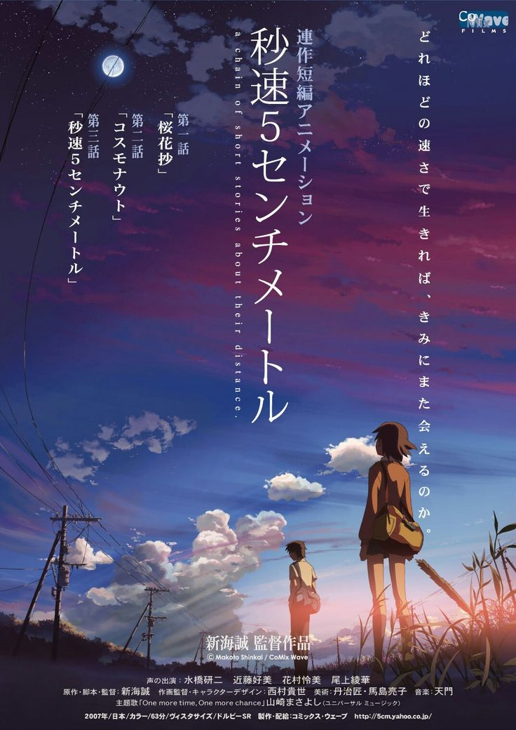 5 Centimeters Per Second Anime, Animasyon filmler ve Film