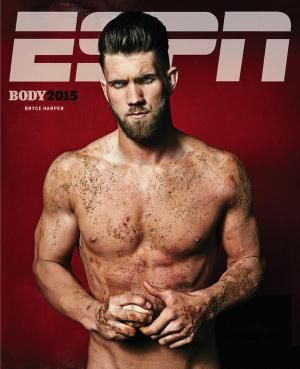 bryce harper- cover of the 2015 body issue