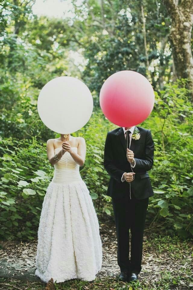 Photo mariage originale ballons