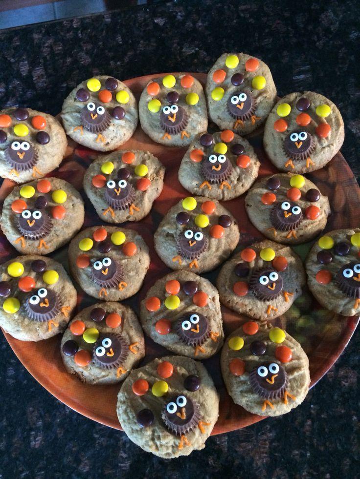 Peanut butter turkey cookies
