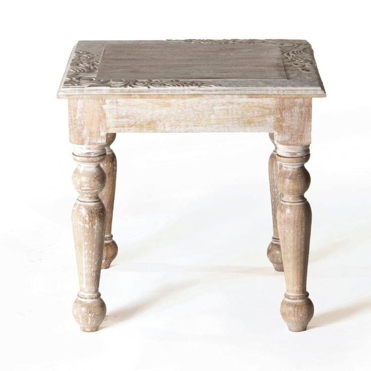 Tisch, Natur/weiß, H 53 Cm, B 53 Cm, T 53 Cm