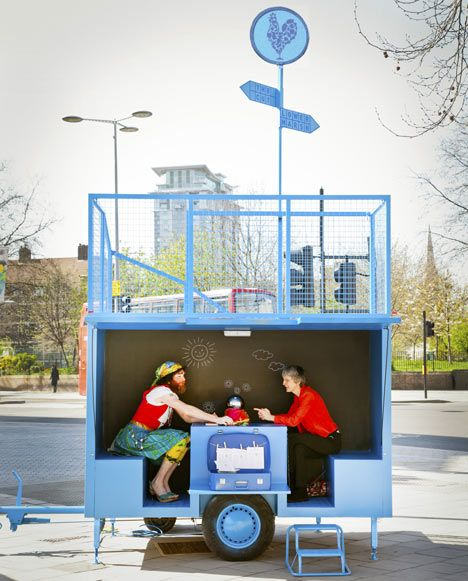 A tiny mobile performance venue based on sixteenth century market stalls and Roman fortune tellers will be appearing around the Lower Marsh area of Waterloo in London in 2012. [Aberrant Architecture]