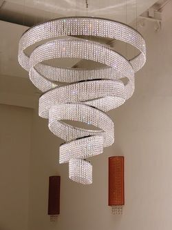 Swarovski Drunken Rings Crystal Chandelier. Don't even want to think about how much this costs!