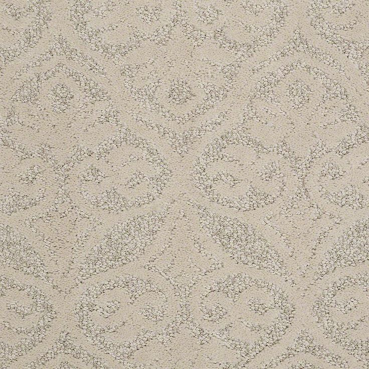 Carpet Sample Perfectly Posh In Color Almond Bark 8 In