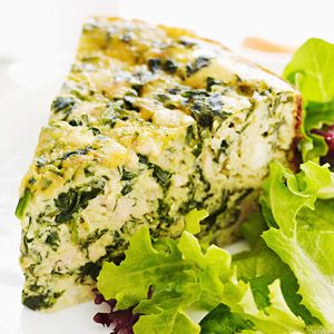 Spinach, Chicken & Feta Quiche... as well as a bunch of other slow-cooker chicken recipes
