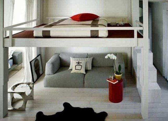 17 meilleures id es propos de lit japonais sur pinterest design de maison - Lit en hauteur deux places ...