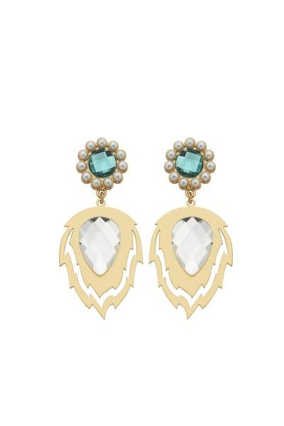Earn HappyPoints when you buy Karen Walker Split Flame Earrings Gold/Peacock. Redeem points for designer goodies by Meadowlark, Kathryn Wilson, Juliette Hogan, Salasai, Twenty-Seven Names,