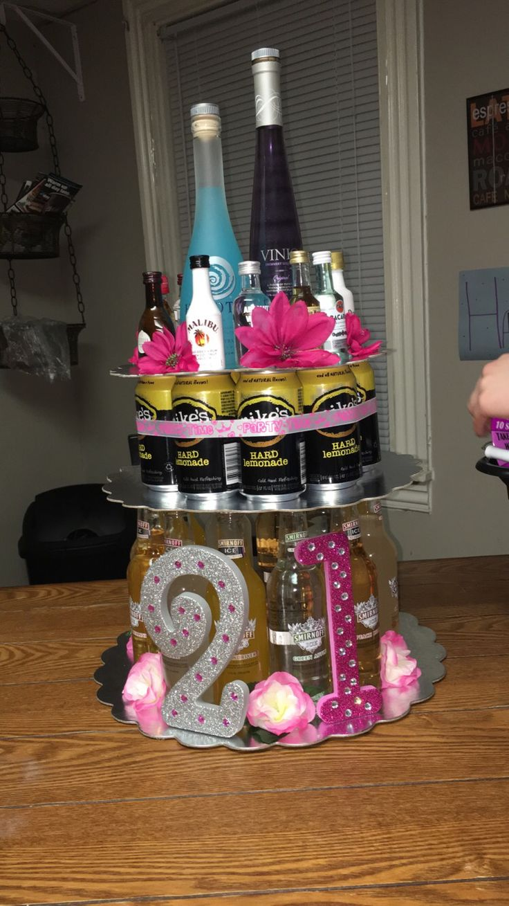 Alcohol cake I made for my roommates 21st birthday! | 21st ...