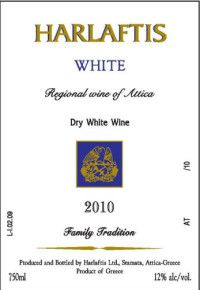 Harlaftis White 2010 , USA label, this wine is sold only to USA to Athenee importers in NY.