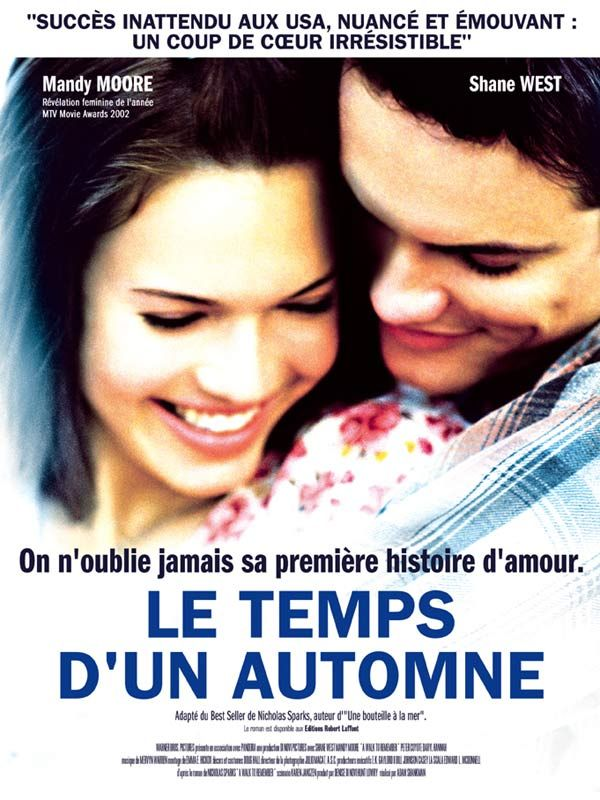 A walk to remember.Le Temps d'un automne est un film de Adam Shankman avec Mandy Moore, Shane West. Synopsis : Landon Carter est l'archétype du lycéen cool et superficiel américain. Il fait la connaissance de Jamie Sullivan, une jeune fille plutôt introv